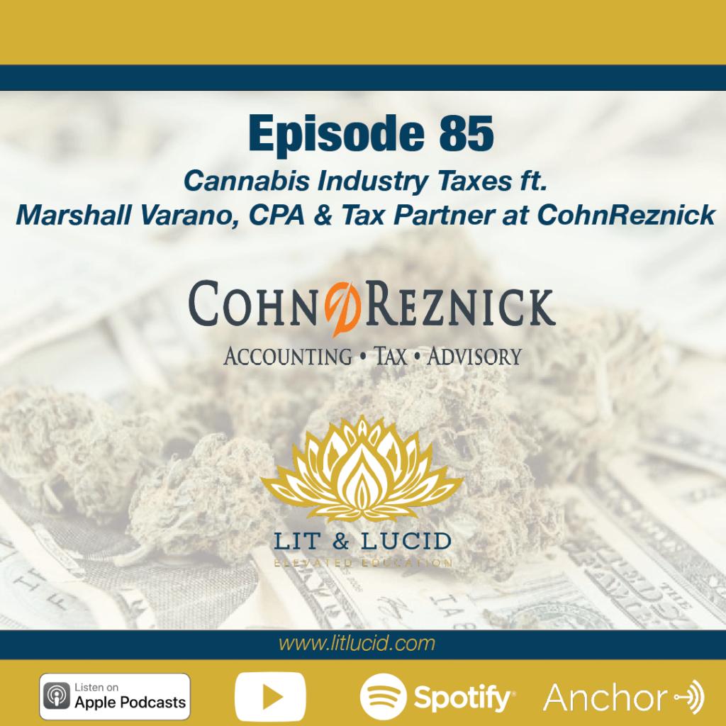 Cannabis Industry Taxes Marshall Varano
